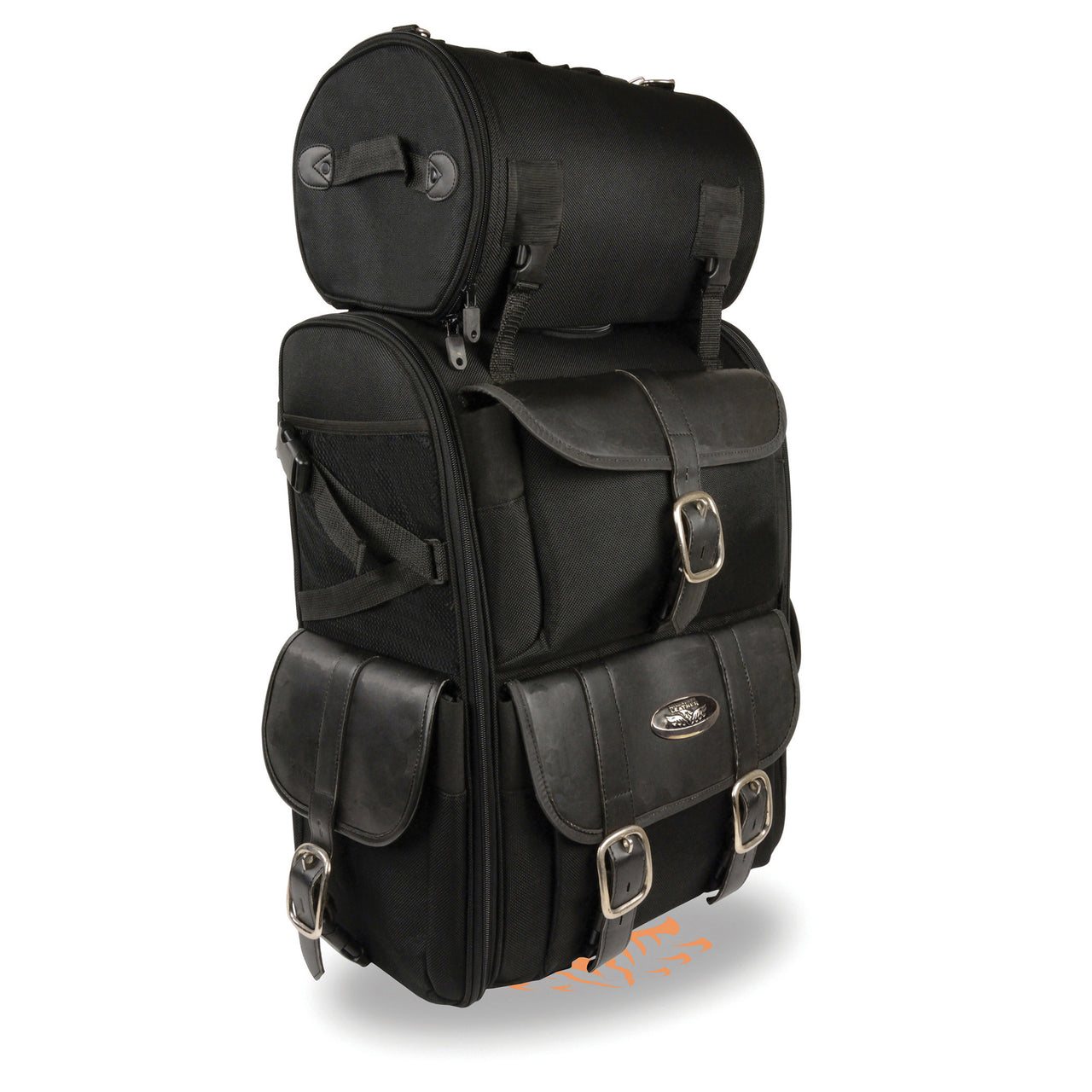 Extra Large Two Piece Nylon Touring Pack (15X21X10) - HighwayLeather