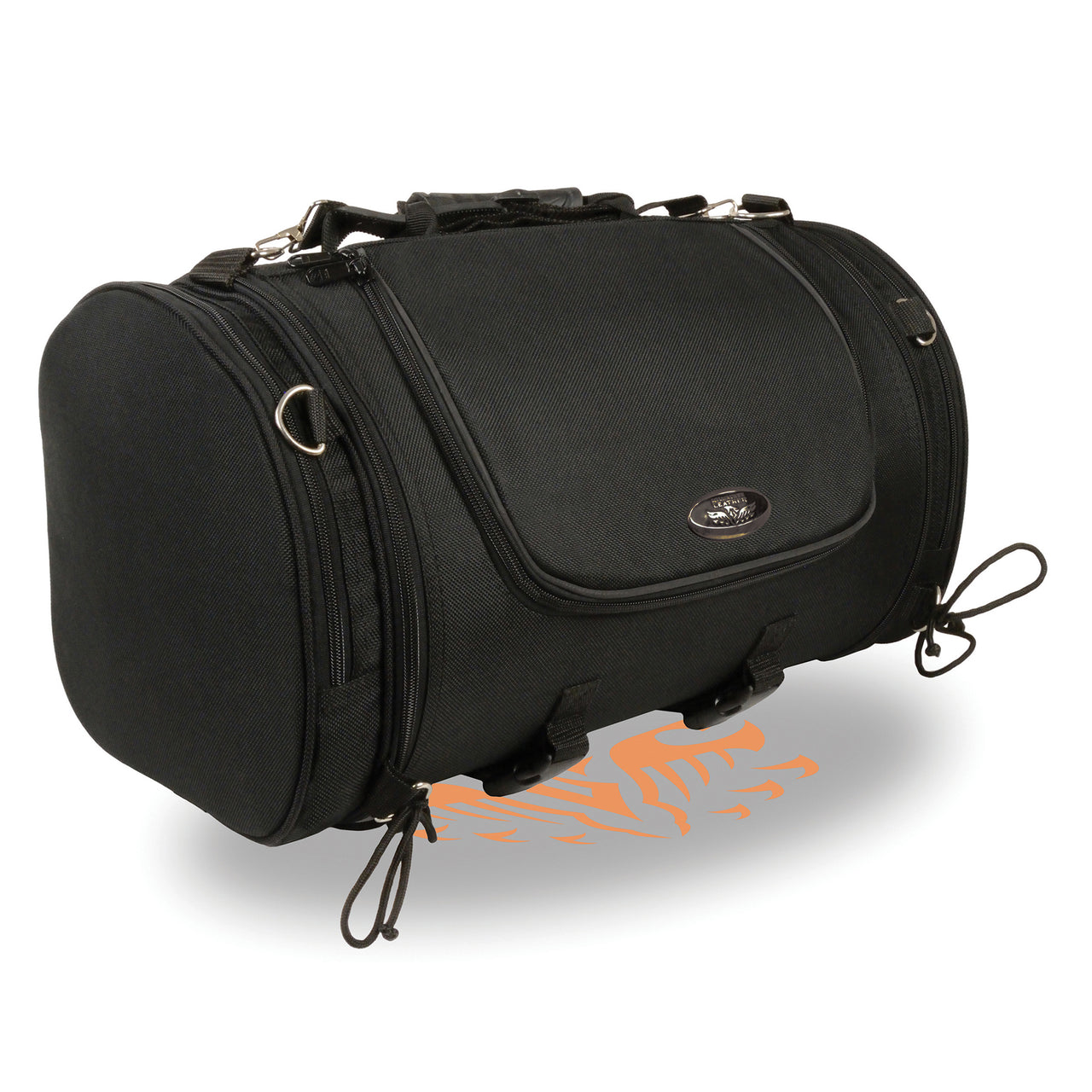 Large Nylon Duffle Style Sissy Bar Bag w/ Carry Strap (22X11.5X11.5) - HighwayLeather