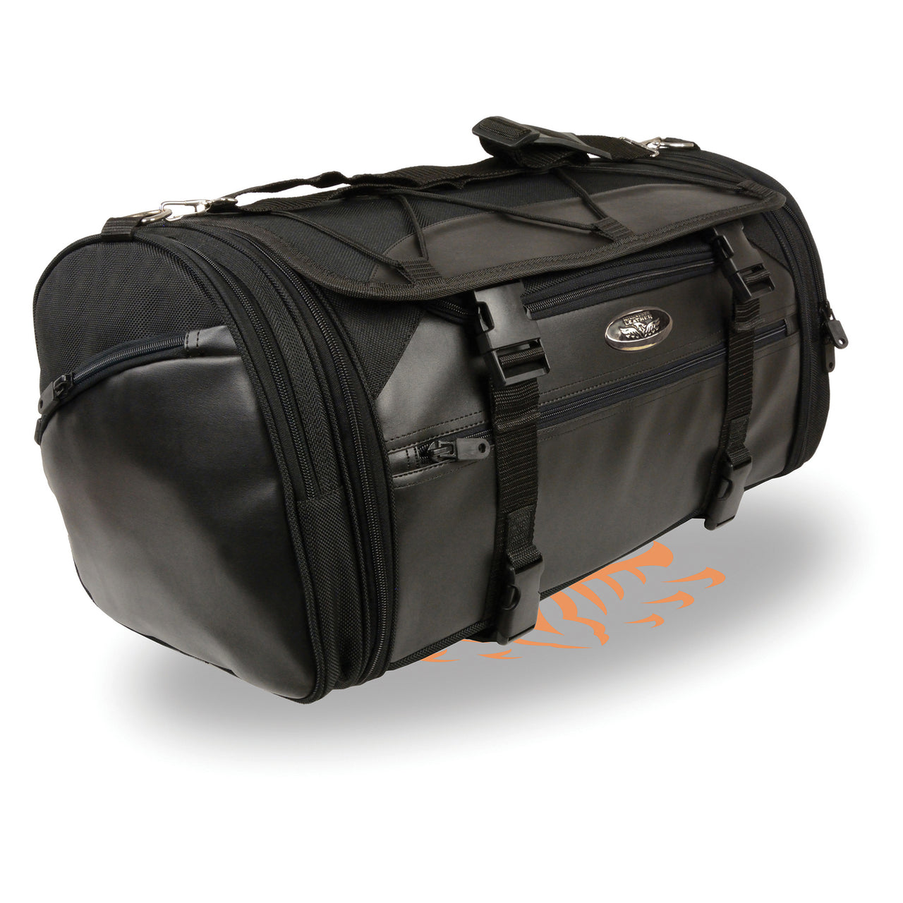 Large Nylon Duffle Style Rack Bag w/ Carry Strap (23X11X11) - HighwayLeather