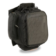 Extra Large Nylon Magnetic Tank Bag w/ Back Pack Straps (9X9X16) - highwayleather