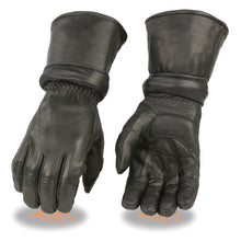 Men's Leather Gauntlet Gloves w/ Zip Off Cuff, Gel Palm - HighwayLeather