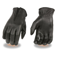Ladies Unlined Leather Gloves w/ Zipper Closure - HighwayLeather