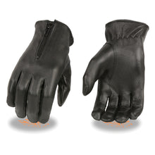 Ladies  Thermal Lined Leather Gloves w/ Zipper Closure - highwayleather