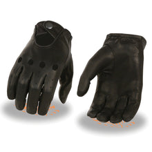 Men's Unlined Leather Proffesional Driving Gloves - HighwayLeather
