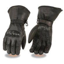 Men's Waterproof Gauntlet Gloves w/ Hard Knuckles, Gel Palm - HighwayLeather