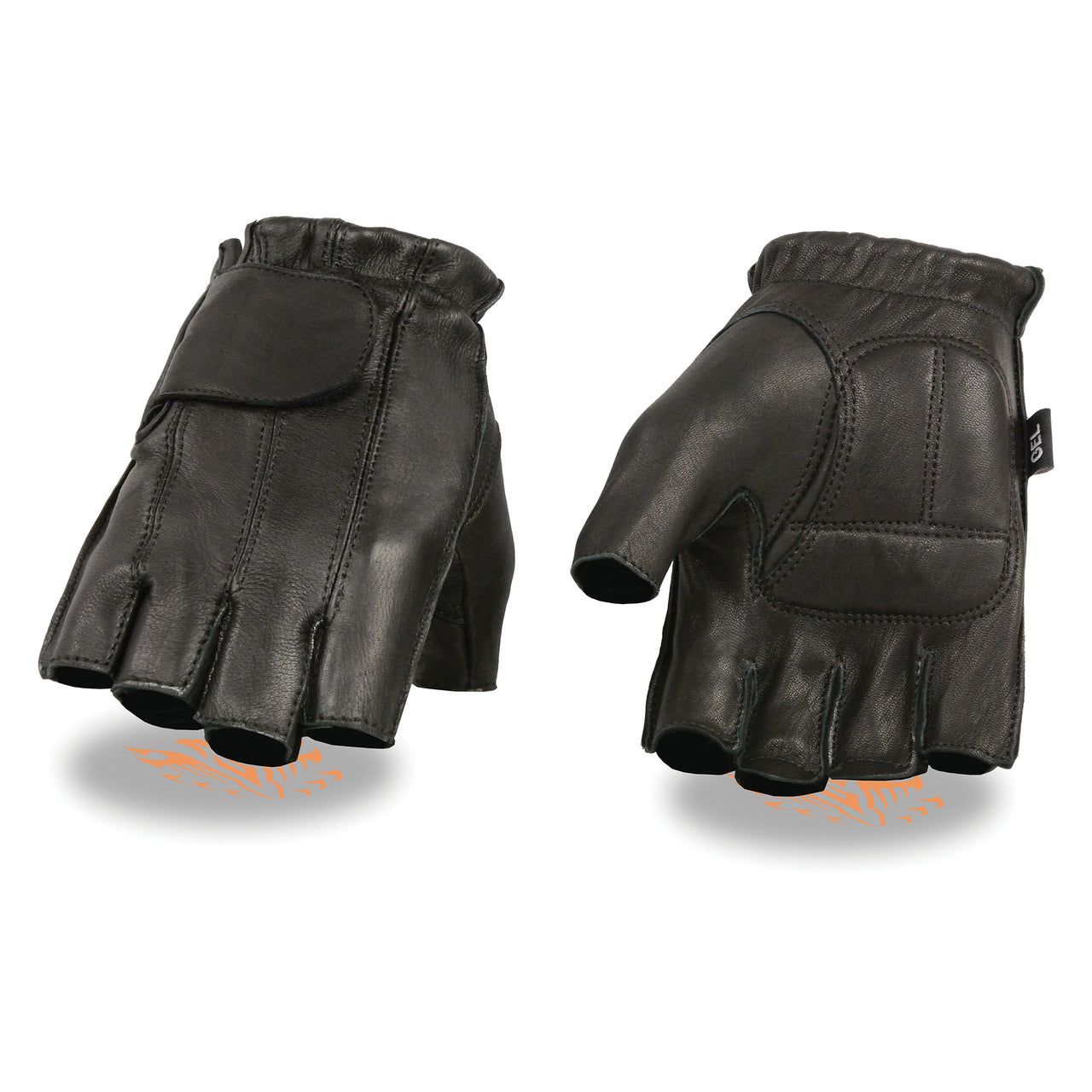 Men's Deerskin Full Panel Fingerless Gloves w/ Gel Palm - HighwayLeather