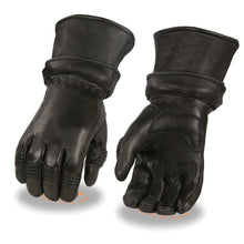 Men's Deerskin Gauntlet Gloves w/ Zip Off Cuff, Gel Palm - HighwayLeather