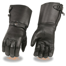 Men's Deerskin Thermal Lined Gauntlet Gloves w Snap Wrist & Cuff - HighwayLeather