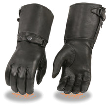 Ladies Deerskin Thermal Lined Gauntlet Gloves w Snap Wrist & Cuff - HighwayLeather