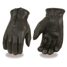 Men's Deerskin Thermal Lined Gloves w/ Zipper Closure - HighwayLeather