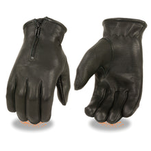 Men's Deerskin Unlined Gloves w/ Zipper Closure - HighwayLeather