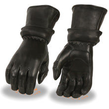Ladies Deerskin Gauntlet Gloves w/ Zip Off Cuff, Gel Palm - highwayleather