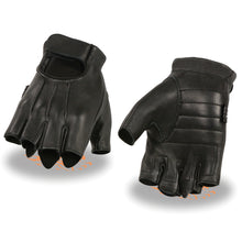 Men's Welted Deerskin Fingerless Gloves w/ Gel Palm - HighwayLeather