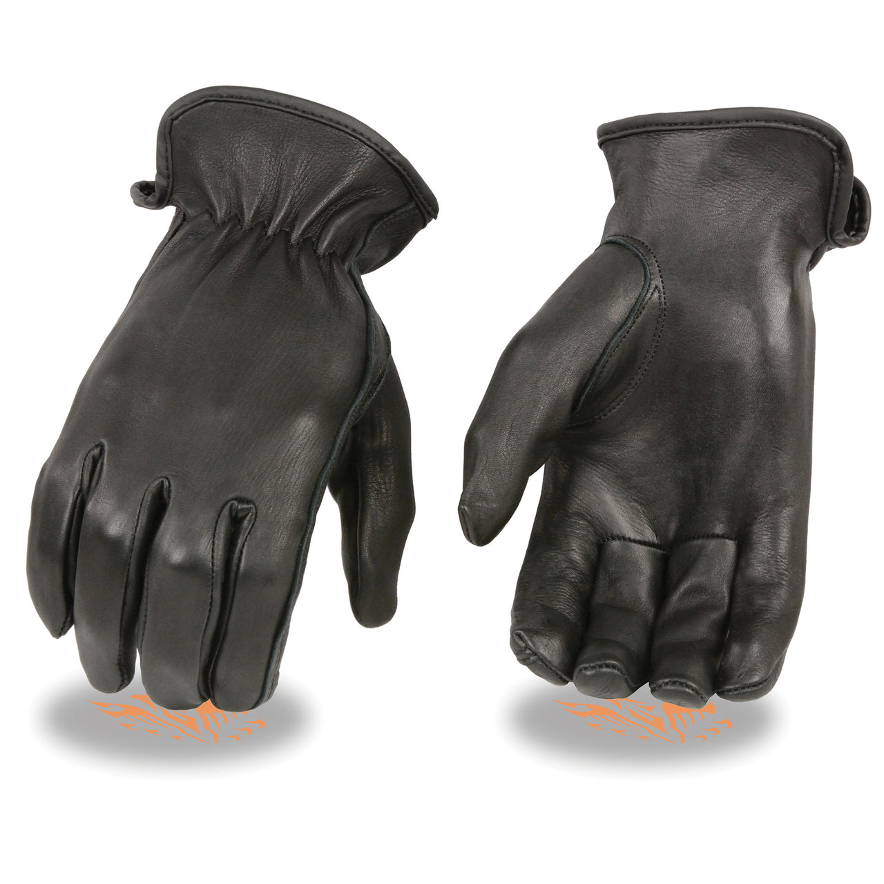 Ladies Unlined Deerskin Gloves w/ Cinch Wrist - HighwayLeather