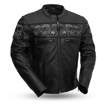 Savage Skulls - Men's Motorcycle Leather Jacket - HighwayLeather