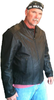 Tall vented racer leather motorcycle jacket- (longer sleeve & back   length) - HighwayLeather