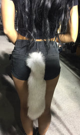 White fox tail - highwayleather