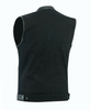 Biker Denim Club Style Anarchy Vest with Conceal Carry Gun pocket both sides - HighwayLeather