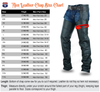Basic Classic Style Leather Motorcycle Chap for Motorcycle Riding Plain Easy Fit - HighwayLeather