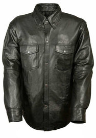 Men's Lightweight Leather Shirt - highwayleather