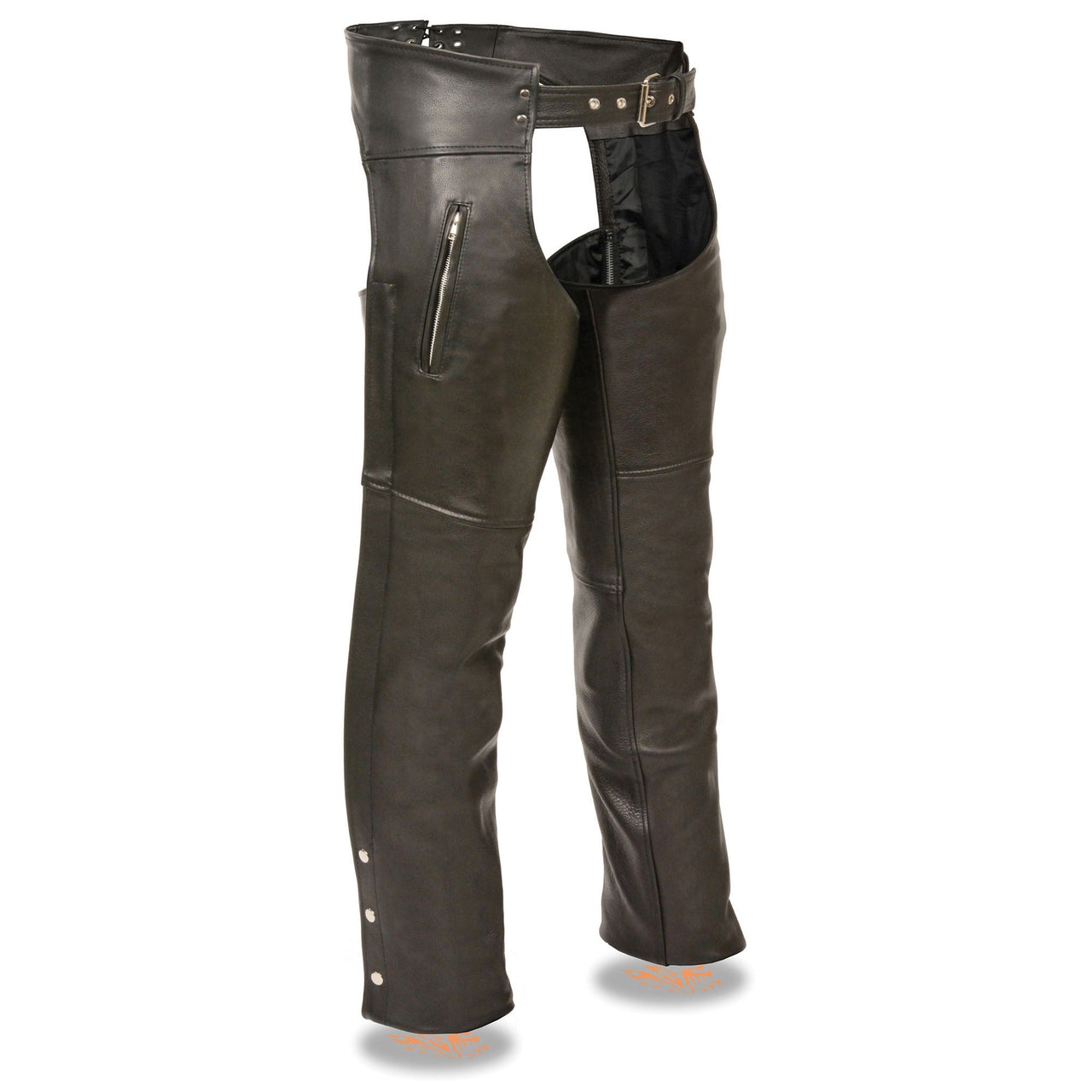 Men's Chap w/ Dual Side Zippered Thigh Pockets - HighwayLeather