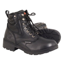 Women's Waterproof Side Zipper Plain Toe Boot - HighwayLeather