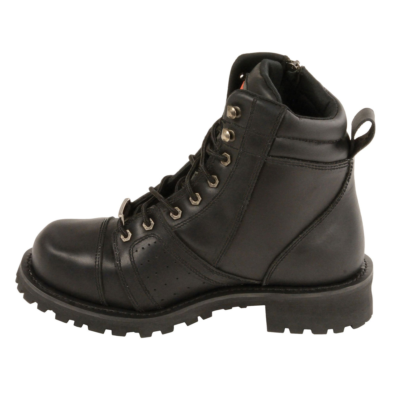 Men's Lace to Toe Boot w/Contrast Stitching -Wide - HighwayLeather
