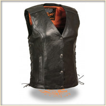 Black Wing Women Vest - HighwayLeather