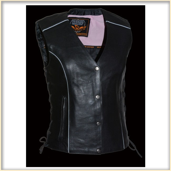 Pink Wing Women Vest - HighwayLeather