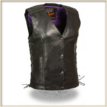 Purple Wing Women Vest - HighwayLeather