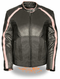 Pink Angel Wings Women Leather Jacke - highwayleather