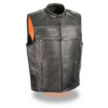 Men's Reflective Band & Piping Zipper Front Vest - highwayleather