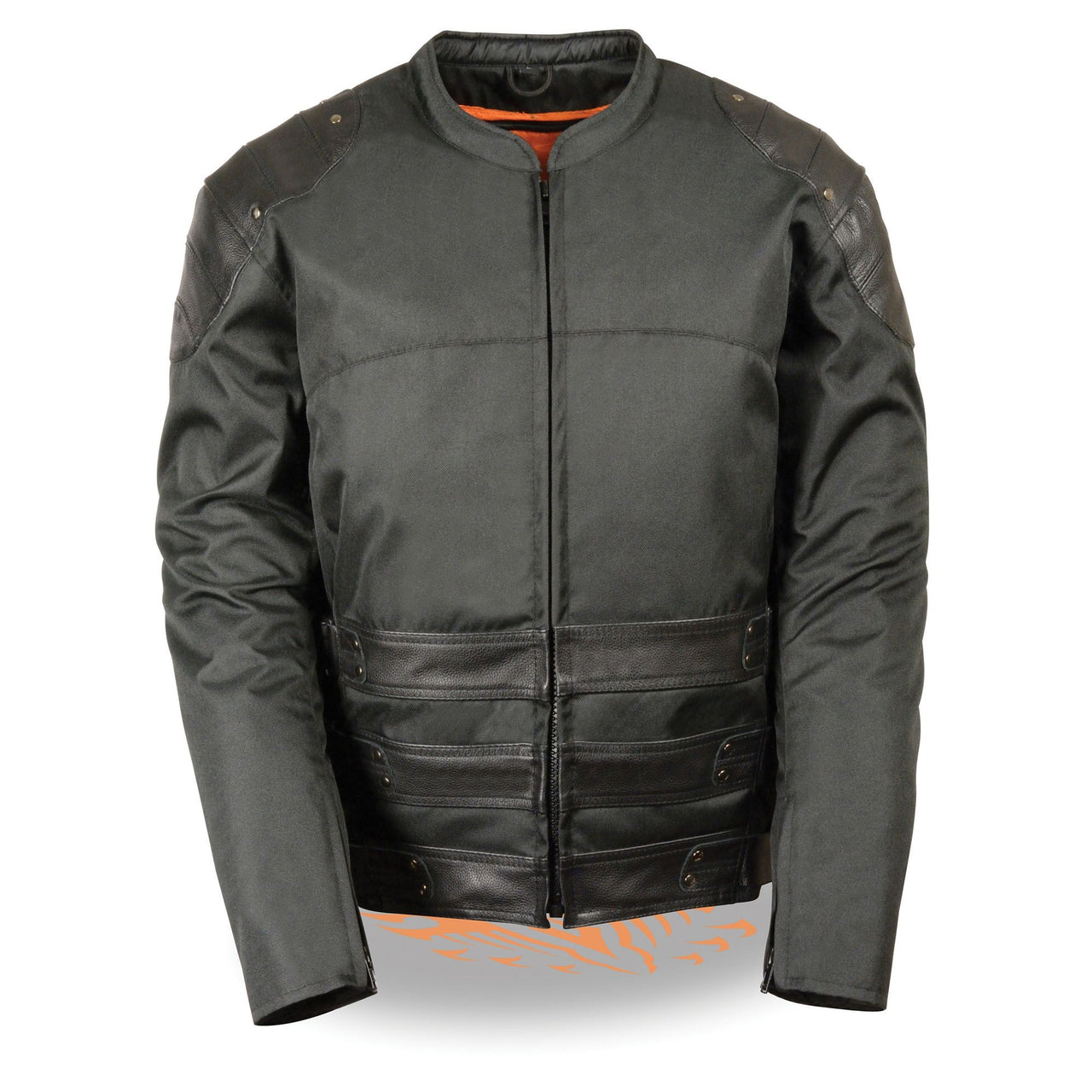 Men's Assault Style Leather/Textile Racer Jacket - HighwayLeather