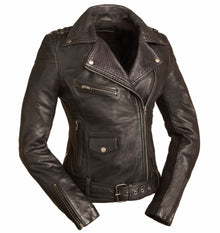 New The Iris Ladies Leather Motorcycle Jacket - highwayleather