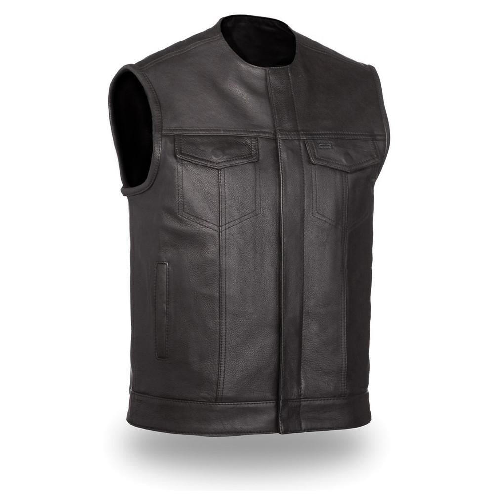 No Rival Men's One Panel Concealment Vest - highwayleather