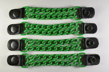 Motorcycle Leather Chain Vest Extender Biker Snap on - Extend your Vest (GREEN) - HighwayLeather