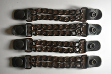 Motorcycle Leather Chain Vest Extender Biker Snap on - Extend your Vest (BROWN) - HighwayLeather