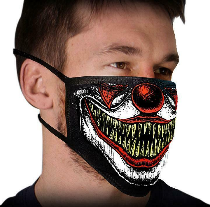 "Face Mask 100% Cotton ""CLOWN TEETH"" Motorcycle facemask for Bikers FMD1016 - HighwayLeather"