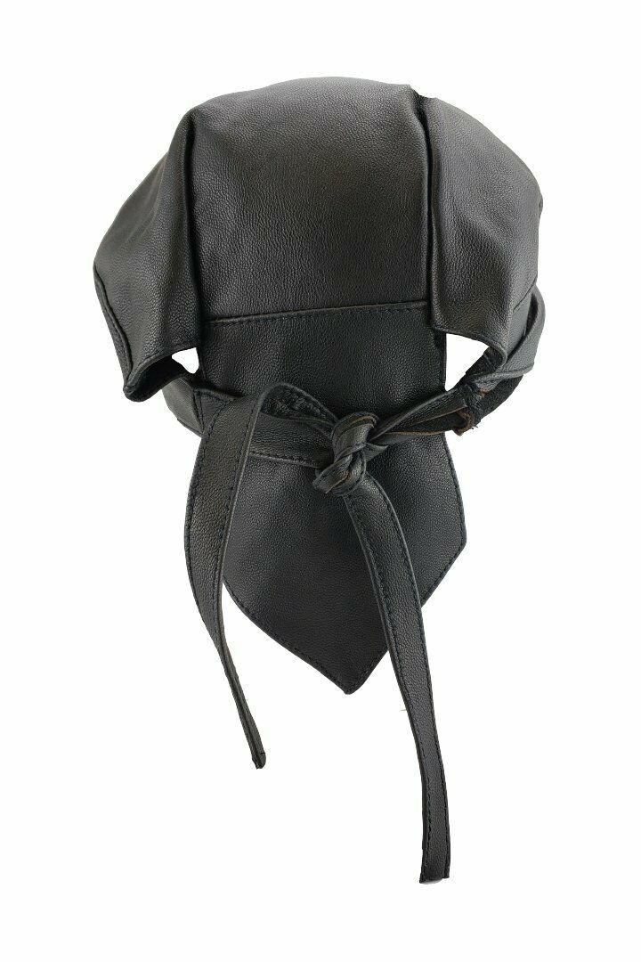 HIGHWAY LEATHER Head Wrap, Skull Cap, Biker Cap, Du-Rag 100% Natural Buffalo - HighwayLeather