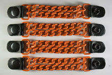 Motorcycle Leather Chain Vest Extender Biker Snap on - Extend your Vest (ORANGE) - HighwayLeather