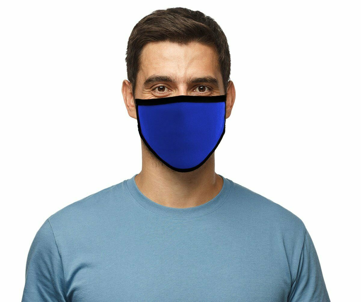 "Face Mask 100% Cotton ""ROYAL BLUE Motorcycle facemask for Bikers MP7924FM - HighwayLeather"