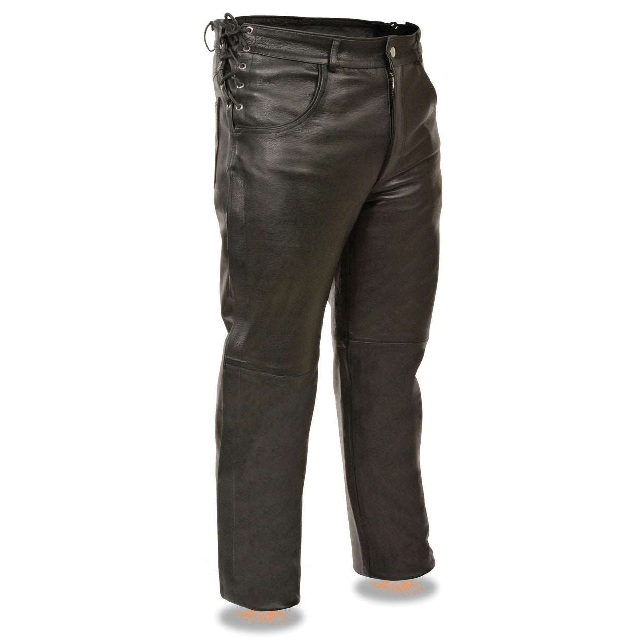 Men's deep pocket over pants w/ side laces for adjustment - HighwayLeather