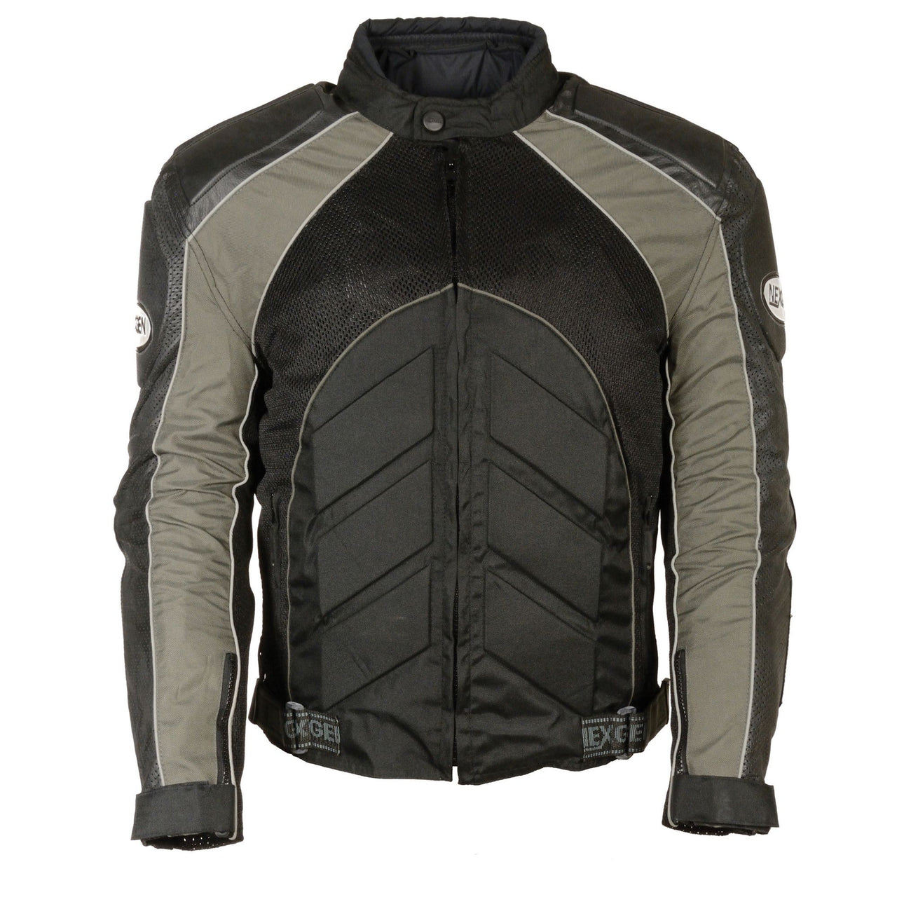 Men's Combo Leather/Textile/Mesh Racer Jacket - HighwayLeather