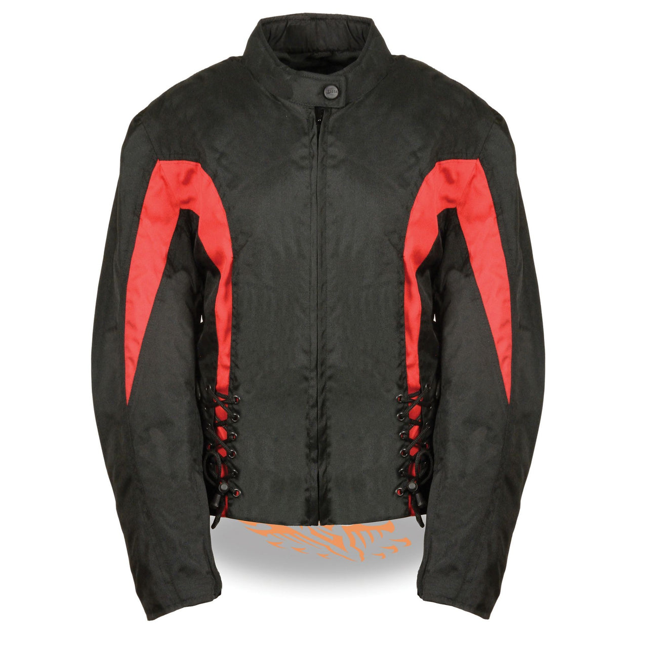 Ladies Textile Jacket w/ Side Stretch & Lacing - HighwayLeather