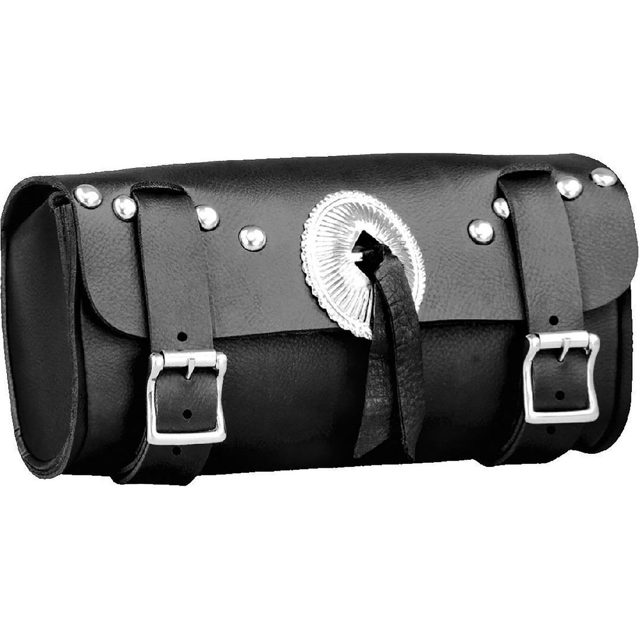 Double Buckle PVC Tool Bag w/ Concho & Quick Release(10X4.5X3.25) - HighwayLeather