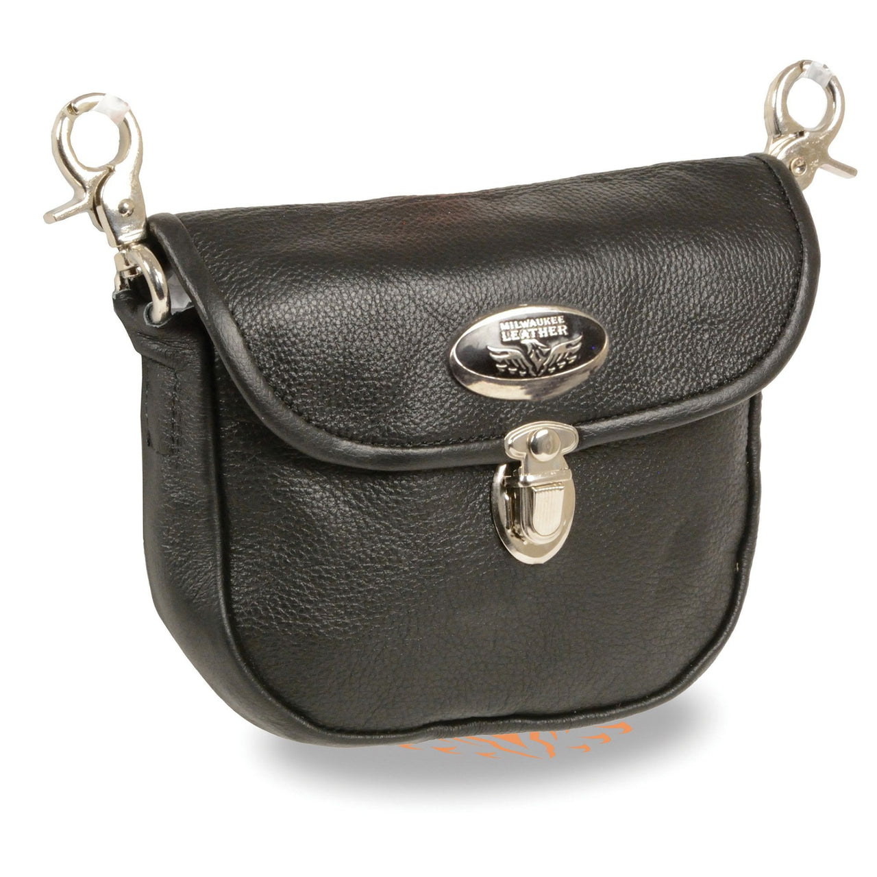 Leather Belt Bag w/ Flap & Belt Clasps(8.5X5.5) - HighwayLeather