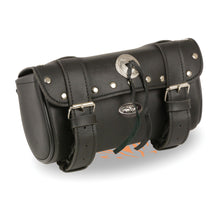 Double Strap Rivet & Concho Tool Bag w/ Quick Release (10X4.5X3.25) - HighwayLeather