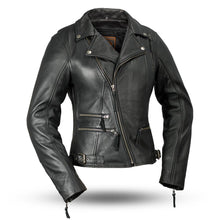 The Monte Carlo Ladies Leather Motorcycle Jacket Black - highwayleather