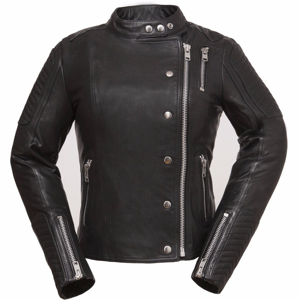 Women's Black The Warrior Princess Leather Jacket - HighwayLeather