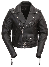 Women's Classic Motorcycle Leather Jacket Quilted Liner - highwayleather
